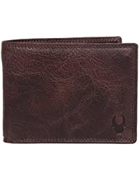 WildHorn® RFID Blocking Brown Genuine Men Leather Purse Wallet For Men Gift Box
