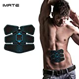 IMATE Muscle Stimulator Pads Arms/ Bottom/ Thigh, Abdominal Muscle Toner EMS Body Toning Belt Muscle Trainer Wireless Home Fitness Apparatus Unisex Support For Men & Women