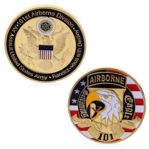 Yipong - collezione di monete commemorative per la sfida degli stati uniti d'america, placcata in oro