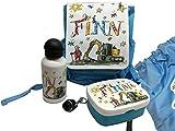Set Kindergarten Bagger, Rosirosinchen, personalisierter Kinderrucksack, Brotdose, Trinkflasche , Turnbeutel