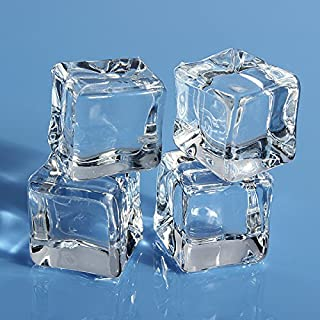 Aliciashouse 16pcs Square Fake streut künstliche Acryl Eiswürfel Kristall - 1,0 cm