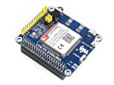 Waveshare 4G/3G/2G/GSM/GPRS/GNSS Hat for Raspberry Pi Zero W WH 2B 3B 3B+ Based on SIM7600E-H Supports LTE CAT4 for Downlink Data Transfer