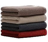 ACMEDE Asciugamani in Cotone Set 4 Asciugamani Nido deape di Morbidissimi in Puro Cotone Colorati 33 * 72 CM per Mano, Viso, Palestra e Spa