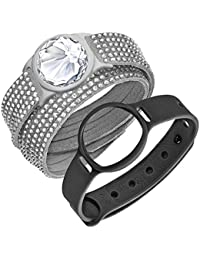 Swarovski Slake Deluxe Activity Tracker Crystal Set Grey Armband 5225822