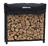 Woodhaven - scaffalatura per legname da ardere completa di telo di copertura, 1,2 m