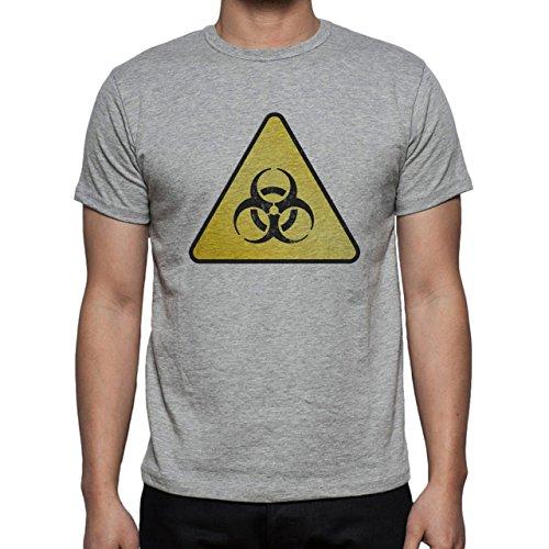 Danger Sign Warning Caution Radiation Herren T-Shirt Grau