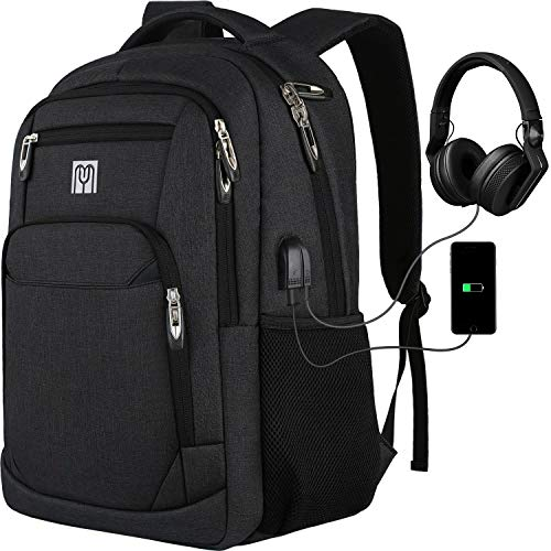 Laptop Rucksack Schulrucksack für 15.6 Zoll Laptop Daypacks für Herren Business Rucksack mit USB Ladeanschluss, Oxford,35L -