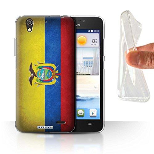 Stuff4® Gel TPU Hülle/Case für Huawei Ascend G630 / Ecuador/Ecuadorianischen Muster/Flagge Kollektion