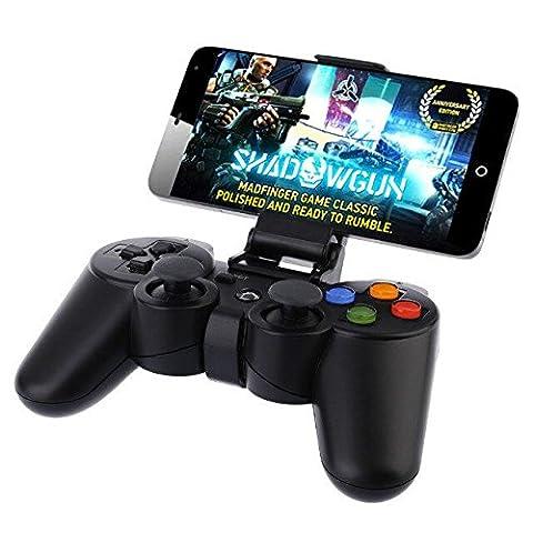 """NHsunray drahtloser Bluetooth Spiel-Steuerpult mit Klipp für PC Laptop-Konsole Joystick-nachladbares Gamepad mit Klipp für Auflage / intelligenter Fernsehkasten / Zahnrad VR / Emulator / Android Telefon/Smart TV(3.5 """"- 5.7"""" Telefon)"""