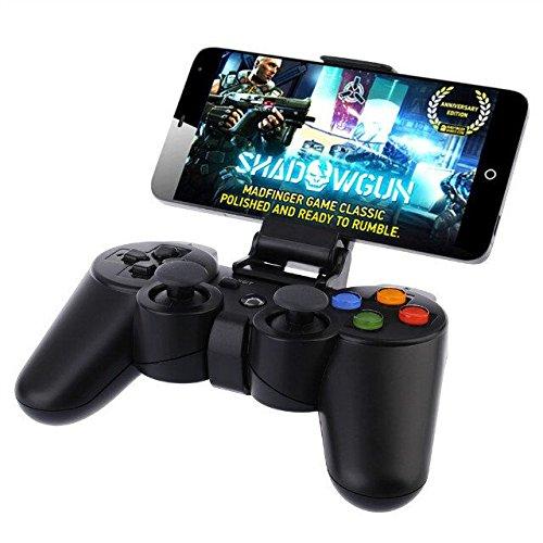 NHsunray drahtloser Bluetooth Spiel-Steuerpult mit Klipp für PC Laptop-Konsole Joystick-nachladbares Gamepad mit Klipp für Auflage / intelligenter Fernsehkasten / Zahnrad VR / Emulator / Android Telefon/Smart TV(3.5