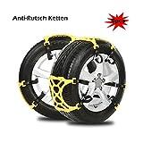 FreeTec–Auto Cadenas de nieve antideslizante Cadenas 165mm–285mm Tire Cadenas Nieve Neumáticos Cadenas, Fit para la mayoría de Auto/SUV/camiones/Truck–Juego de 6, fácil de instalar