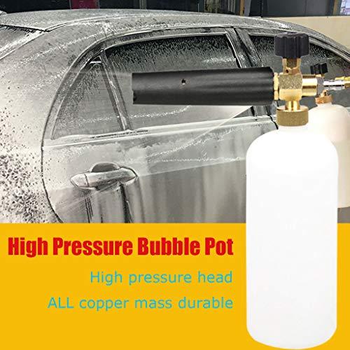 ck-Wasserpistole Für Autowäsche- 1/4 Schneeschaum Lanze Kanone Seife Flasche Pot Sprayer Jet Autowäsche - Sl-Padt Spezial Für Pistole - Blau ()