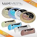 Lux Metal Kit LUCIDATURA 03/150 mm Pulire per LUCIDARE Pulizia Metalli Alluminio Ferro Acciaio Inox Ottone Bronzo Cromo CROMATURA Rame Argento Oro Disco Ruota TAMPONE Pasta ABRASIVA ABRASIVI