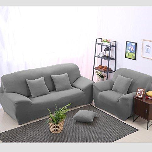 LY&HYL Tessuti domestici solido di colore stretto tutto compreso Asciugamano Divano Fodera Stretch tessuto elastico (Grigio Su Misura Seat Covers)