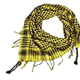 Yvelands Schal Wrap Unisex Mode Frauen Männer Arabischen Shemagh Keffiyeh Palästina Schal Schal Wrap(Gelb)