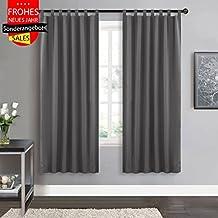 suchergebnis auf amazon.de für: vorhänge grau wohnzimmer - Gardinen Wohnzimmer Grau