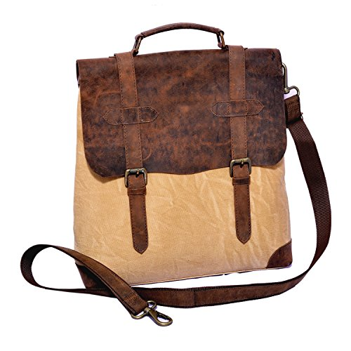 Craft Play Handicraft Brown/Tan Color Canvas Laptop Bag/Travel Bag