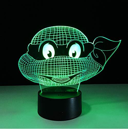 Led 7 Farben Ändern Turtle Nachtlicht Lampen 3D Touch Nachtlicht Kinder Teenager Mutant Ninja Turtles Neujahr Geschenk Für Kinder