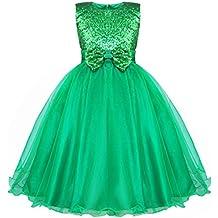 Freebily Vestido Elegante de Princesa Fiesta Boda para Niña (2 a 14 Años) Vestido Brillante con Lentejuelas