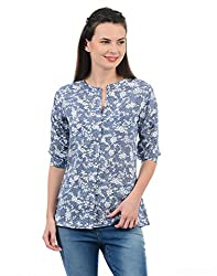 Monte Carlo Women Casual Top(_8907679580661_Blue_X-Large_)