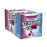 Ice Breakers Bonbons à la menthe à double face Ice Breaker Duo - Parfum de fraise - 35 g (Lot de 8)