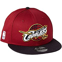 New Era Nba 9Fifty Cleveland Cavaliers Offical Team Colour, Gorra de Béisbol para Hombre, Rosso, Medium