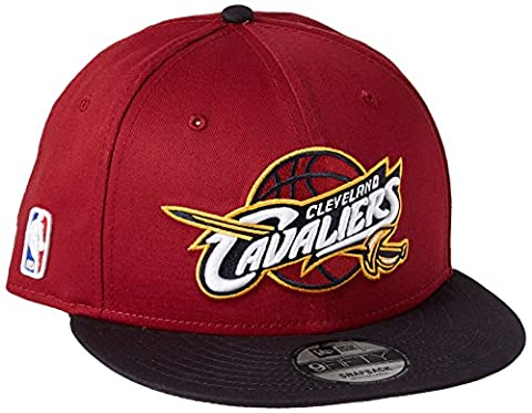 New Era Nba Team 9Fifty Cleveland Cavaliers Offical Team Colour, Casquette de Baseball Homme, Rouge, Medium