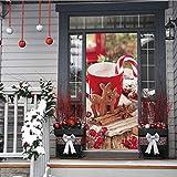 libby-nice Weihnachtsschale Tür Aufkleber Wandbild PVC Selbstklebende Wasserdichte Moderne Schlafzimmer Tapete Wohnzimmer Dekoration