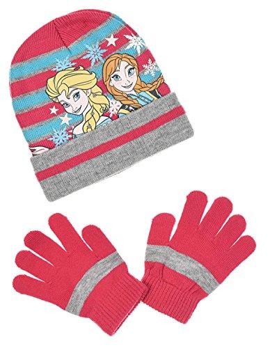 e32de2ab9a2 Bonnet et gants enfant fille La reine des neiges 3 coloris de 3 à 9ans (