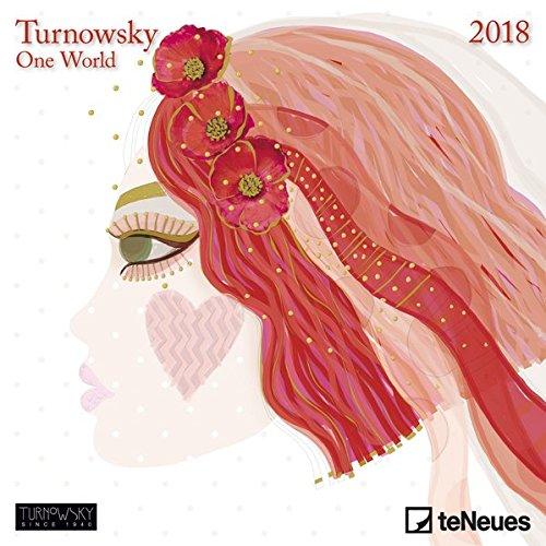 Turnowsky 2018 - Kunstkalender,moderne Kunst, Mini-Broschürenkalender - 17,5 x 17,5 cm -