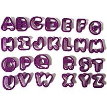 TOYMYTOY 26 unids Molde de Letras de Plástico Cortador de Galletes de Chocolate Diy Herramientas para