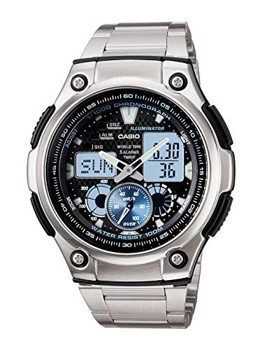 Casio Youth-Combination Analog-Digital Black Dial Men's Watch