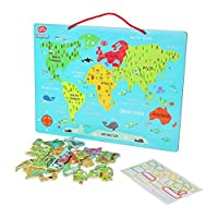 C.V. Chad Valley PlaySmart Magnetic World Map