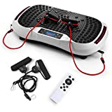 SVNA Vibrationsgeräte Fitness-Vibrationsplattform 120-Gang-Magnet-Massage Drahtlose Bluetooth-Stummschaltung für Massageübungen,White