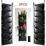 HIMM 7 Pockets Vertical Wall Planter,Wall Hanging Garden Fence Planting Grow Bags For Yard Garden Home Decoration