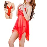 #8: New Blue Eyes Red beby doll dress pack of 2 honeymoon dress for sexy nighty for Woman