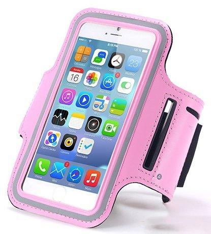 iPhone Sportarmband Ultra weicher Verstellbarer perfekt für Laufen, Radfahren, Wandern, Kanu fahren, Walking, Reiten und andere Sportarten, auch Hochwertige mit Schlüssel Slots (viele Farbe)–von ezz Rosa - rose