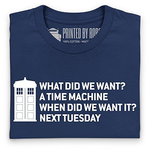 Time Machine T-Shirt, Herren Dunkelblau