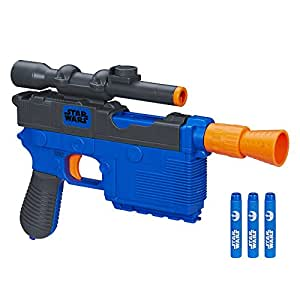Nerf B4146 - Han Solo Nerf Dart Blaster with 4 Darts - Disney Star Wars The Force Awakens