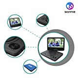 from WONNIE WONNIE 9.5 Portable DVD Player with 270 Swivel Screen, Best Gift for Kids, Support USB/SD Slot, Direct Play in Formats AVI/MP3/JPEG/RMVB (9.5, Blue) Model WN-UK928BL