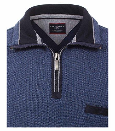 Casa Moda - Herren Troyer aus 100 % Baumwolle und mit abgesetztem Kragen (462522300 A) Blau (105)