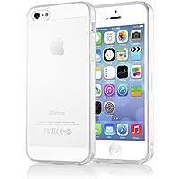 iPhone 5 5S SE Hülle Handyhülle von NICA, Ultra-Slim Silikon Case Cover Schutzhülle Dünn Durchsichtig, Handy-Tasche Backcover Transparent Bumper für Apple iPhone SE 5S 5 - Transparent