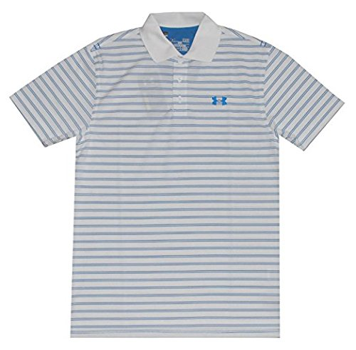 Herren UA Draw Stripe Piqu¨¦ Polo 2.0 (X-Large, Wei? / Blau) (Armour Under Polo Classic Shirt)