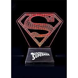 Oficial DC Comics Superman borde acrílico luz lámpara de la noche - en caja