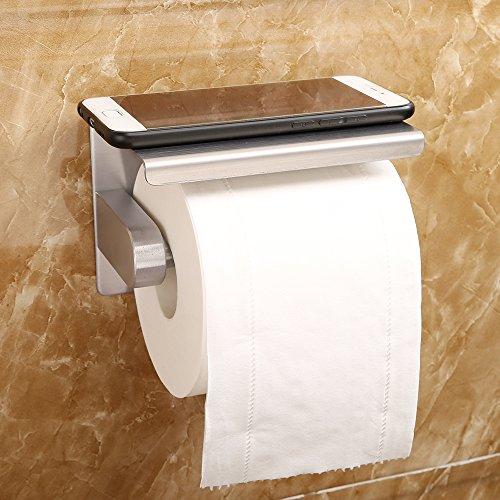 hghmlife Edelstahl Aufhänger für WC-Rolle Papier Handtuchhalter Wandhalterung Handtuch Haken, die Gewebe Rolle selbstklebend für Bad Küche WC Hotel