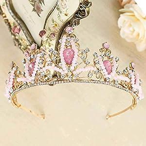 Simsly Hochzeits-Diadem, Braut-Blumen-Krone für Damen