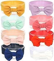 Joyfeel's Store Cintas para el pelo de Nylon para bebés Turbante Knotted Girls Hairband Super suave y elás