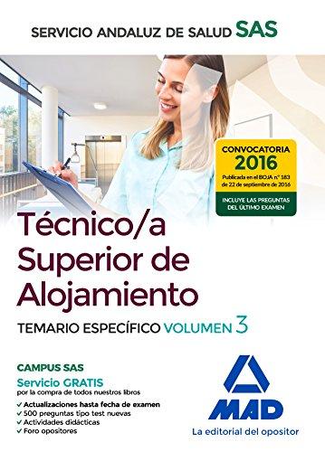Técnico/a Superior de Alojamiento del Servicio Andaluz segunda mano  Se entrega en toda España