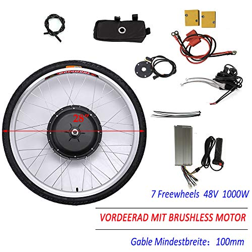 "OUKANING 28"" 48V 1000W Elektro Ebike Conversion Kit for Front Wheel Frontmotor Vorderrad"