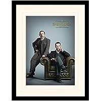 Sherlock Holmes et le Dr Watson murale 30x40cm
